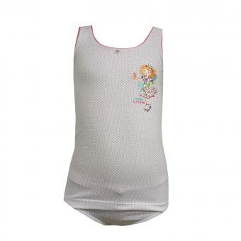 Mädchen Unterwäscheset Slip und Unterhemd Prinzessin-Lillifee gepunktet, weiß-rosa