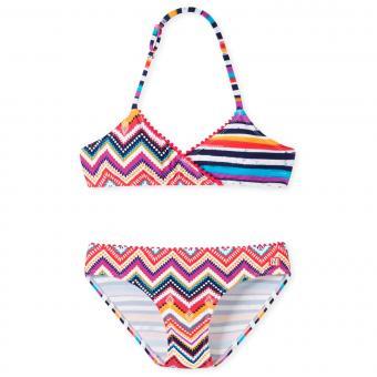 Schiesser Mädchen Triangle-Neckholder Bikini gemustert, multicolor – 164735