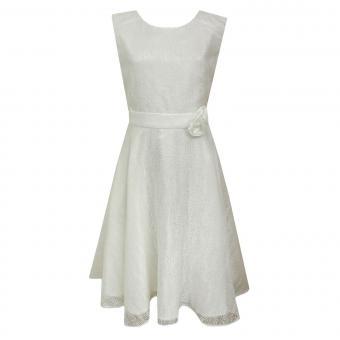 Festliches Kleid Mädchen Sommerkleid gemustert, natur - 564157