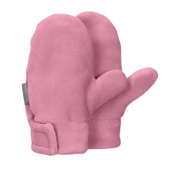 Mädchen Fäustlinge Handschuhe Fleece mit Klettverschluss, perlrosa - 4301420