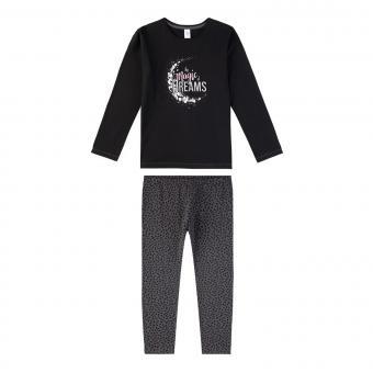 Sanetta Mädchen Schlafanzug Langarm Magic schwarz - 244556