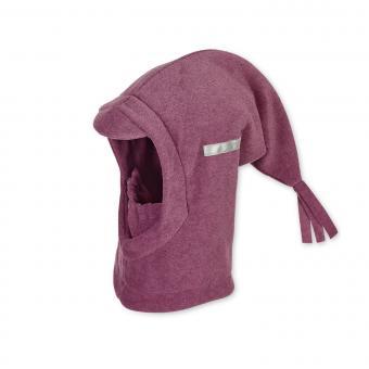 Mädchen Schalmütze Wintermütze Fleece mit Reflektoren einfarbig, lila mel. - 4521440