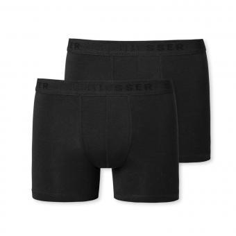 Jungen Unterhose Boxershorts Doppelpack Basic, schwarz - 173534