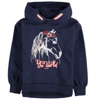 Garcia Mädchen Langarmsweatshirt mit Print - BLAU V04662