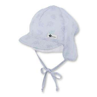 Baby Jungen Schirmmütze zum Binden Sommermütze Schildmütze mit Nackenschutz, himmelblau – 1602033