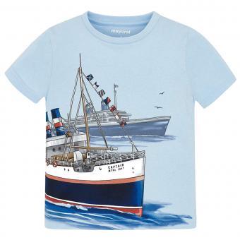 """Jungen T-Shirt Kurzarmshirt, hellblau """"Schiff"""" - 3.024"""