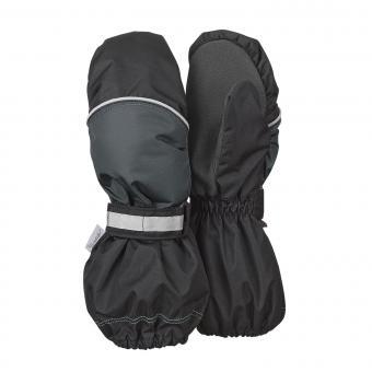 Jungen Fausthandschuh Thermo-Handschuh mit reflektierendem Klettverschluss wasserdicht Stulpenhandschuh, schwarz - 4321805