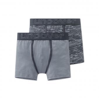 Jungen Unterhosen Shorts 2er Set, Grau - 163221