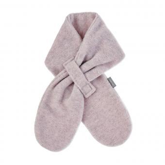 Mädchen Baby Winter Schal aus Microfleece mit Klettverschluss einfarbig, rosa melange - 4201400-rosa