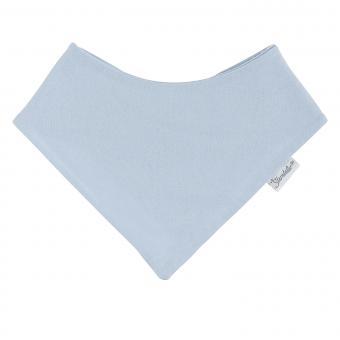 Baby Jungen Dreieckstuch aus Baumwolle 2-lagig mit Klettverschluss einfarbig, hellblau – 4001901-bleu
