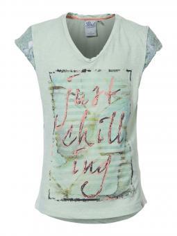 Mädchenshirt T-Shirt kurzarm Just Chilling, grün - G-SS17-TSR073