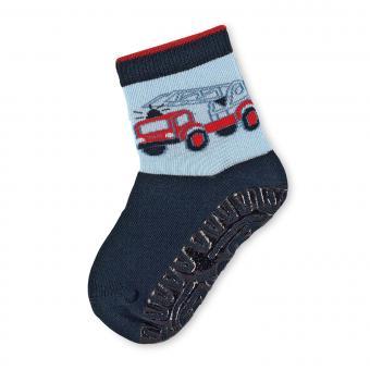 Jungen Anti-Rutsch-Socken Fliesenflitzer Feuerwehrwagen, marine - 8021802