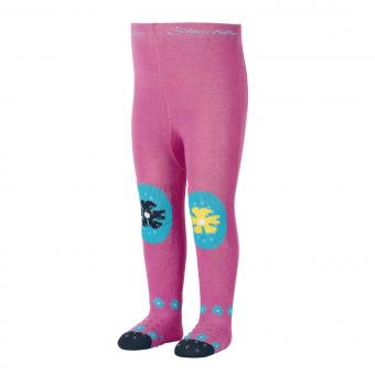 "Mädchen Baby Strumpfhose mit ABS-Noppen Krabbelstrumpfhose mit Po-Motiv ""Kakadu"", pink – 8652005"