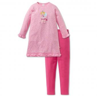 Mädchen Schlafanzug zweiteilig mit Nachthemd Prinzessin Lillifee, rosa - 163154