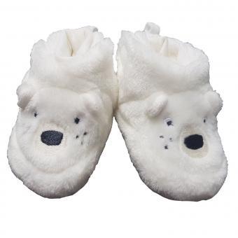 """Baby Mädchen Jungen Schuhe gefüttert Babyschuhe Fleece """"Eisbär"""", beige - 5101881"""