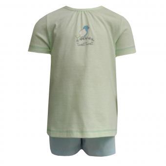 kurzer Schlafanzug Baby Mädchen Vogel, grün - 221323
