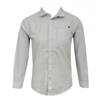Jungen festliches langarm Hemd gemustert, hellblau - 6139b
