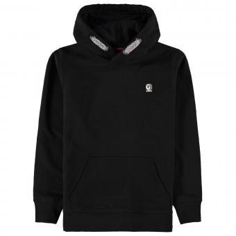 Jungen Sweatshirt Sweater mit Kapuze Brustlogo, schwarz - GS030701