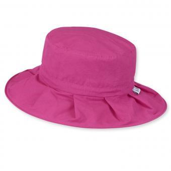 Mädchen Sommerhut einfarbig, pink - 1431438