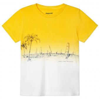 """Jungen Sommer kurzarm T-Shirt """"Meer Windsurfen"""" ,gelb -3035"""