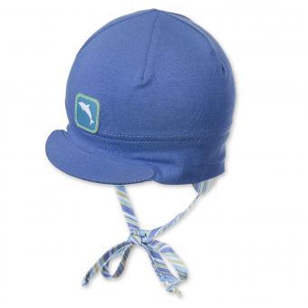 Schildmütze Schirmmütze zum Binden Baby Junge Delfin, blau - 1601700