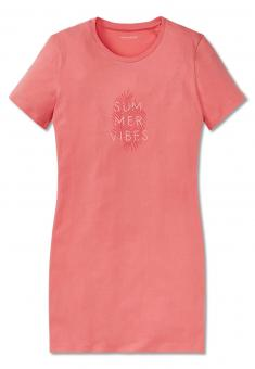 "Mädchen Nachthemd Sleepshirt Kurzarm ""Summer Vibes"", orange - 161356"