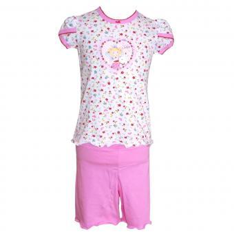 Schlafanzug Mädchen Prinzessin Lillifee, weiß-rosa