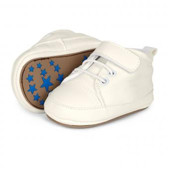 Baby Jungen Schuhe Krabbelschuhe Kunstlederoptik, weiss - 2301623
