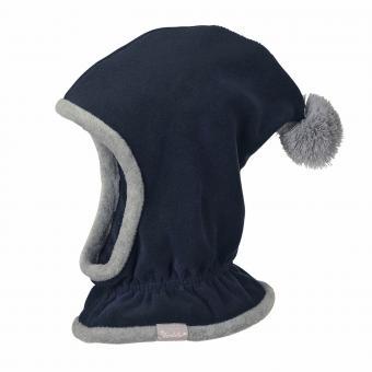 Jungen Mütze Wintermütze Schalmütze Fleece, blau - 4521645