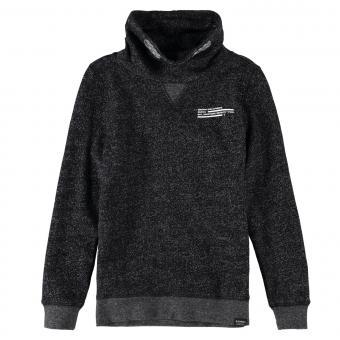 Garcia Jungen Pullover Langarmshirt Sweatshirt mit hohem Kragen, schwarz grau - H93665 1755