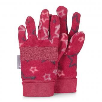 """Mädchen Handschuhe Fingerhandschuhe Fleece """"Sterne"""", beerenrot - 4321920"""
