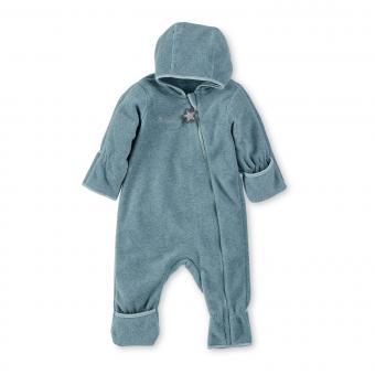 Baby Overall Jungen Fleece mit Reißverschluss Hand- und Fußstulpen, türkis mel. - 5501800-tuerk
