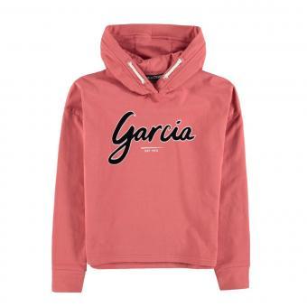 Mädchen Langarmshirt Sweatshirt Sweater mit Kapuze Schriftzug cropped,Pink - GS0207