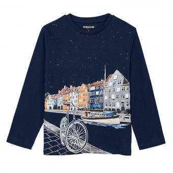 "Jungen Shirt Langarmshirt glow in the dark ""Fahrrad"", dunkelblau - 4.042-marine"