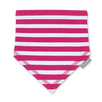 Mädchen Baby Halstuch Dreieckstuch, pink-weiß - 1101700
