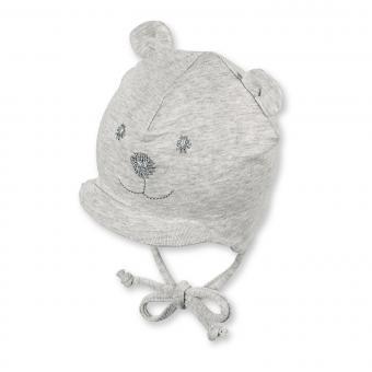 Schildmütze Schirmmütze zum Binden Bärchen Gesicht Baby Jungen, silber - 4001567