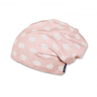 Mädchen Mütze Slouch-Beanie Wendemütze Punkte, rosa - 1501851