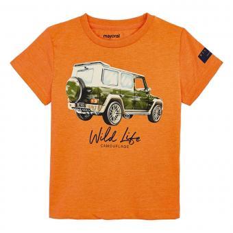 """Mayoral Jungen Sommer T-shirt """"Jeep"""", orange - 3.071"""
