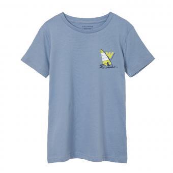 """Jungen T-Shirt Sommershirt kurzarm rückseitig bedruckt """"Surfing"""", grau - 6081"""