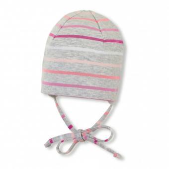 """Baby Mädchen Mütze zum Binden USF 50 """"Streifen"""", pink - 1502001"""