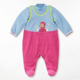 Baby Mädchen Strampler-Set Nicki Katharina mit Pullover, magenta - 5601625