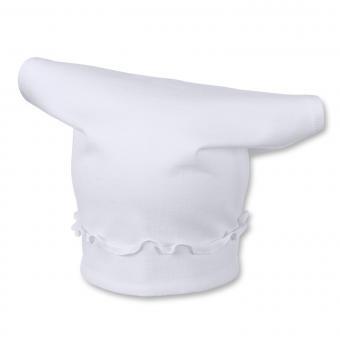 Tuchmütze Kopftuch für Mädchen einfarbig, weiß - 1451400