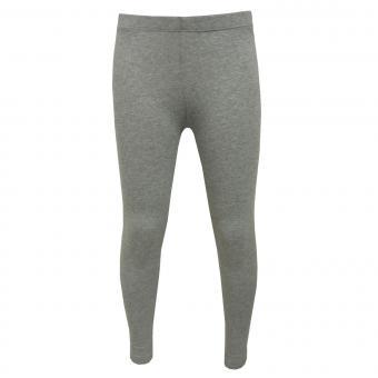 Mädchen Leggings einfarbig, Grau