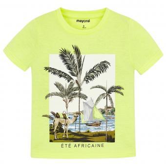 Mayoral Jungen T-shirt kurzarm mit coolem Motiv, gelb - 3.025-84