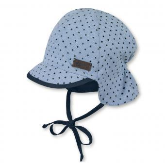 Jungen Schirmmütze zum Binden mit Nackenschutz, Sommermütze, LSF 50+, blau - 1601931