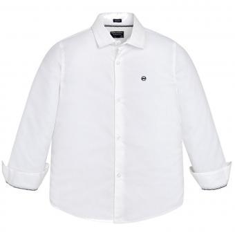 Festliches Jungenhemd Hemd langarm, weiß - 6160