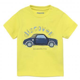 """Jungen Baby T-Shirt Shirt Sommer kurzarm """"Auto"""" , gelb - 1.006g"""