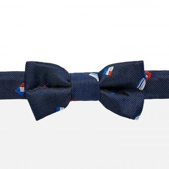 Festliche Fliege für Jungen mit Fahnen-Muster, dunkelblau - 10.553
