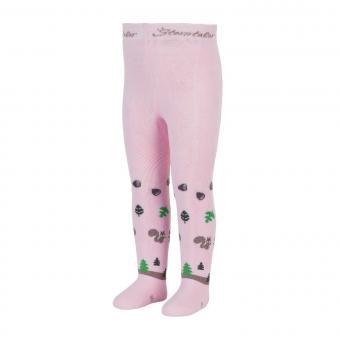 Mädchen Baby Winter Thermo-Strumpfhose mit Vollplüsch Po-Motiv Eichhörnchen. rosa - 8722004-rosa