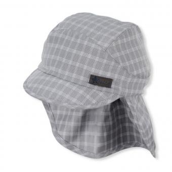 """Baby Jungen Schirmmütze mit Nackenschutz UVS 50+ """"gemustert"""", rauch-grau - 1612143"""